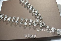 Silpada Sterling Silver Glass Nugget Toggle 35 Long Necklace N1503 $129