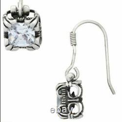Silpada Sterling Silver Uptown CZ Cubic Zirconia Dangle Earrings HTF W0975 SET