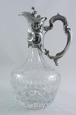 Silver & Cut-Glass Claret Jug