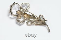 TRIFARI Alfred Philippe 1945 Sterling Silver Jelly Belly Carnation Flower Brooch