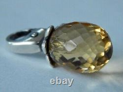 TROLLBEADS Citrine Pendant RARE Changeable Event Bead Faceted (ONE BEAD) NEW