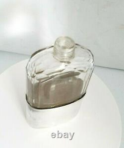 Tiffany & Co Sterling Union Silver Cup And Crystal Glass Whiskey Liquor Flask