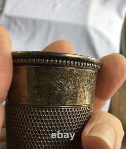 VINTAGE Sterling Silver Shot Glass/Jigger ONLY A THIMBLE FULL Holds 2 oz