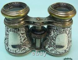 Victorian Sterling Silver Field Opera Glasses Birmingham England 1876