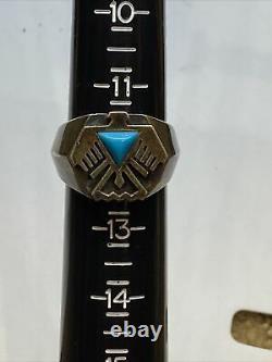 Vintage Franklin Mint FM Sterling Silver Eagle Thunderbird Men's Ring Size 12