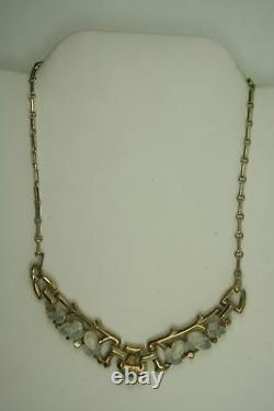 Vintage Gold Overlay Sterling Silver Philippe Trifari Fruit Glass Necklace