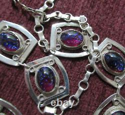Vintage Sterling Dragons Breath Mexico Necklace 18.5 Inches