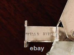 - Wells Sterling Silver / Glass Pop-up Perfume Bottle Wedding Bells No Monogram